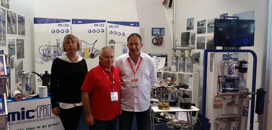 micfil SalonNautica 2015 booth