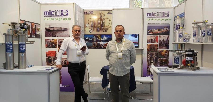 micfil marintech booth 2019
