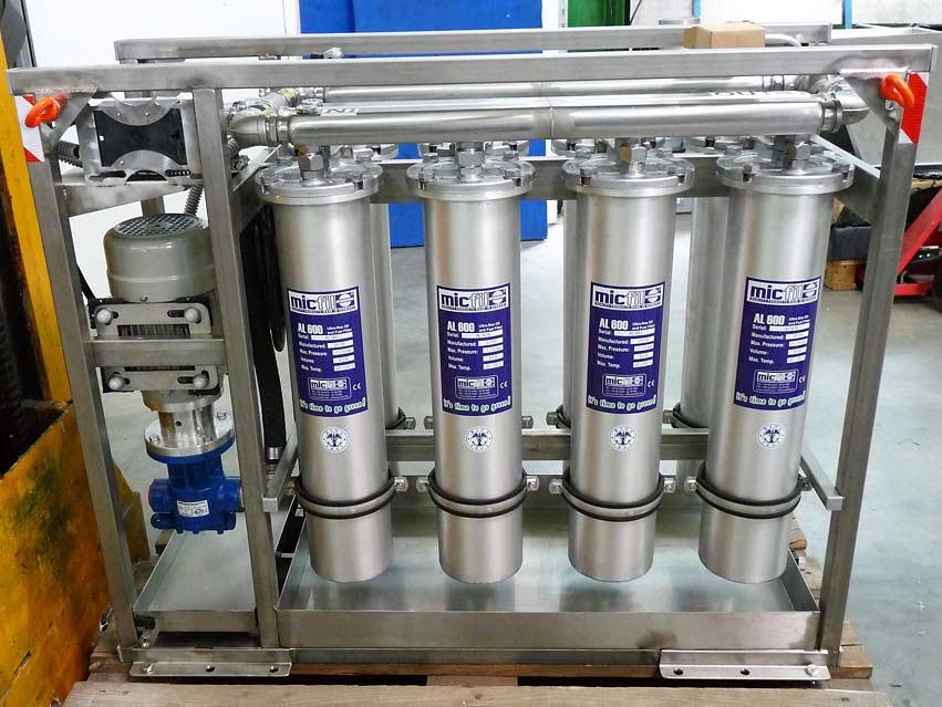 8 x micfil AL600-System mit Pumpe