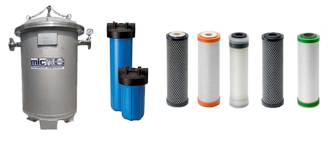 micfil water Filtersysteme - Produktpalette